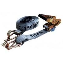 Tiedown - 1.5T Titan Grey 6.5m c/w Sleeves | Tie Downs