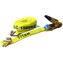 Tiedown - 1.5T Titan Yellow 6.5m J.Hk | Tie Downs | Tie Down - 1.5T 6.5m - J Hk Only