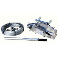 Titan Winch 0.8T Lift / 1.25T Pull | Cable Hand Winch & Rope | Recovery Equip | Recovery Winches