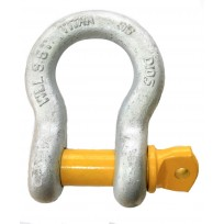 Shackle - Titan Bow | Recovery Equip | 4 X 4 Attachments  | Titan Yellow Pin | Shackle - Rated