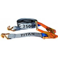 Tiedown - 2.5T Titan Grey 8.5m J-Hk c/w Sleeves | Tie Downs