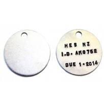 ID Disc - Blank Alloy 50mm   Identification Tag   Product Inspection   Round Alloy TAG 50