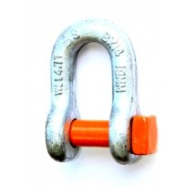 Trawl Shackle - HDG Orange Pin, Square Head | Trawl Shackles | Shackle - Rated | Mooring & Studlink Chain