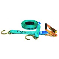 Tiedown - 1.0T Titan Green 6.5m S/HK c/w Sleeves | Tie Downs