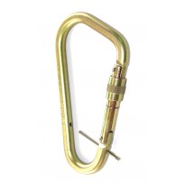 Karabiner - Steel Offset Screwgate Large c/w Captive Pin | QSI Height Safety NZ