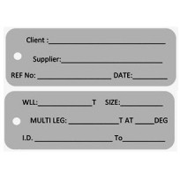 Identification Alloy Tag - Client Blank | Tags & Product Inspection | Identification Tag