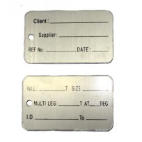 Identification Alloy Tag - BIG Client Blank | Product Inspection | Identification Tag