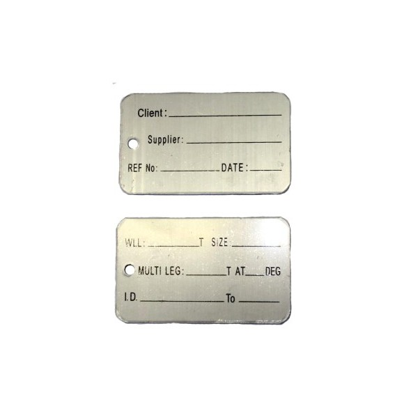 Identification Alloy Tag Big Client Blank Product