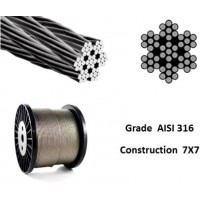 Stainless Wire Rope - AISI316 7X7 | Wire Rope - Stainless