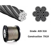 Stainless Wire Rope - AISI316 7X19 | Wire Rope - Stainless