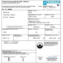 THIELE G100 Certificates | Product Certificates