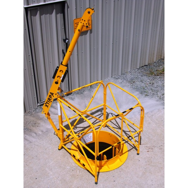 Portable manhole guard system vertical entry systems