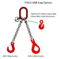 G80 THIELE 2 Leg Lifting Set - Germany | THIELE G80 Chain Set - Germany  | Lifting Sets G80 & G100