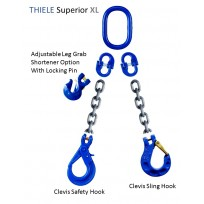 G100 THIELE 2 Leg Lifting Set - Germany | THIELE G100 Chain Set - Germany | Lifting Sets G80 & G100