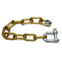 8mm Trailer Chain Set 12Link c/w Shackle & Washer   Trailer Parts   8mm Trailer Set 12Link