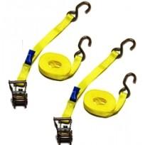 Tiedown - 1.0T Titan Yellow 6.5m S/HK c/w Sleeves | Tie Downs