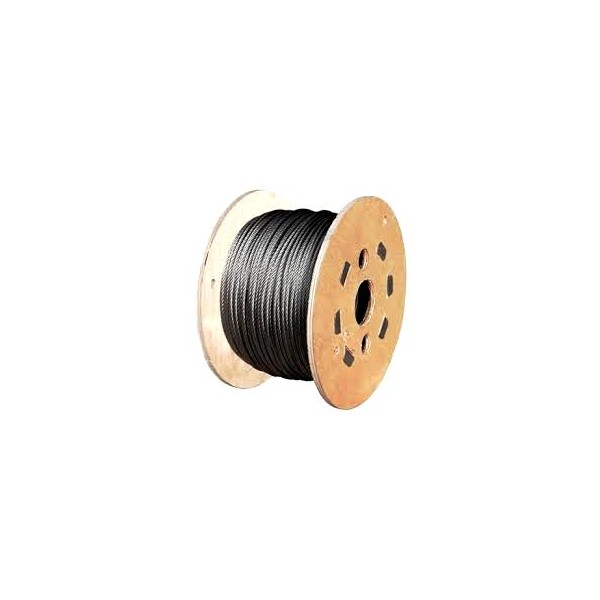 Wire Rope - 6mm G1770 7X19 (2.35T MBL) 520m Reel | Rope | HES NZ Ltd