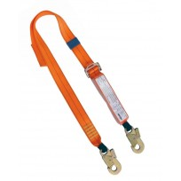 2.0m Adjustable Web Lanyard c/w Std Hooks | QSI Height Safety NZ