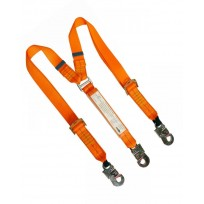 2.0m Adjustable Twin Web Lanyard c/w Std Hooks | QSI Height Safety NZ