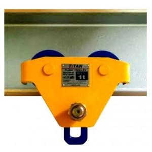Wide Flange Push Trolley - Titan | Trolley - Push, Gear & Pipe Type