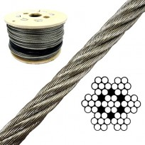 6mm Wire Rope 7x7 RHOL Galv 1000m Reel
