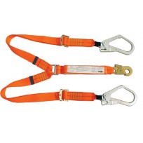 2.0m Adjustable Twin Lanyard c/w Scaffold Hks | QSI Height Safety NZ