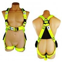 HES Std-PLUS Full Body Lime Harness C/w Front & Rear D | QSI Height Safety NZ