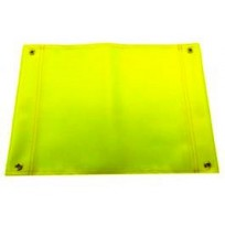 Hi Vis Lime (Yellow) Square Flag c/w Eyelets | Signage & Flags
