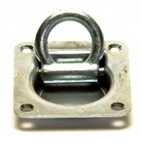 Bolt-On Deck Lashing Plate - 5000lbs 4 Hole | Fittings - Rated G70 & G80 | Eye Bolt & Eye Nut