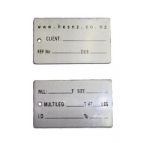 Identification Alloy Tag - BIG HES NZ | Tags & Product Inspection | Identification Tag | Roundsling - 15T to 85T WLL