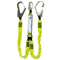 2.0m Elastic Twin Web Lanyard c/w Scaff Hks | QSI Height Safety NZ