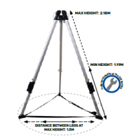 QSI Adjustable Alloy Tripod 7FT | QSI Height Safety NZ