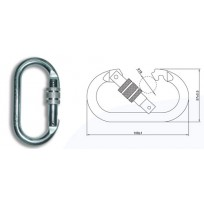 Karabiner - Oval Steel Screwgate 24KN  | QSI Height Safety NZ