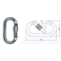 Karabiner - Oval Steel Screwgate 24KN  | QSI Height Safety NZ